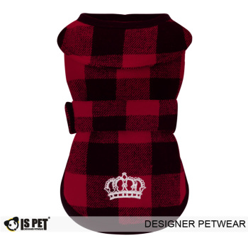 Plaid Wrap Vest Red
