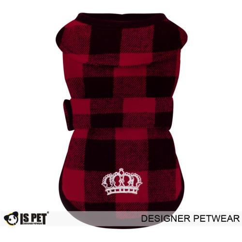 Plaid Wrap Vest Red