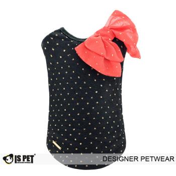 Gliter ribbon tshirt Black - M