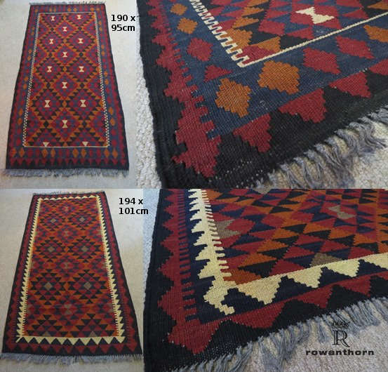 kilim  rugs 190x96 and 194x101cm
