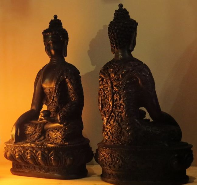 Black Resin Buddha (28cm)