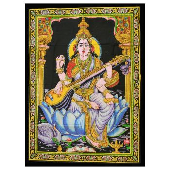 Indian Wall Art - Saraswati