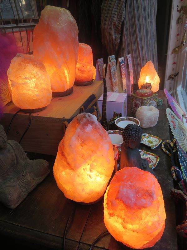 Salt lamps window