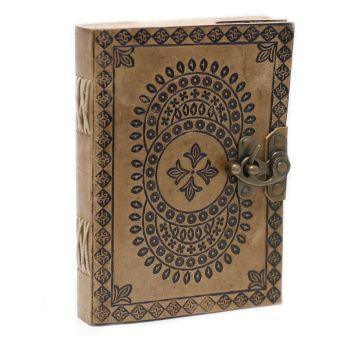 "Leather Mandala Notebook (7x5"")"