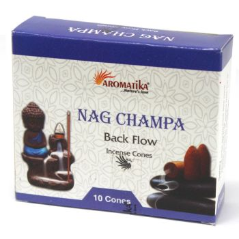 10 x Aromatica Backflow Incense Cones - Nag Champa