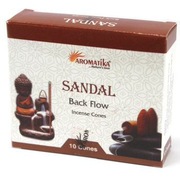 10 x Aromatica Backflow Incense Cones - Sandlewood