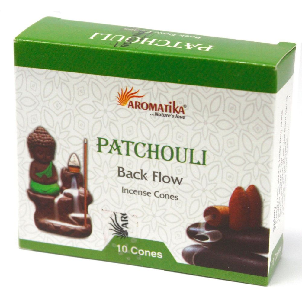 10 x Aromatica Backflow Incense Cones - Patchouli