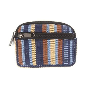 Gheri woven purse/case (blue/brown)
