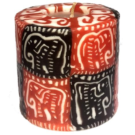 Swazi Pillar Candle - Elephant