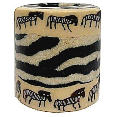 Swazi Pillar Candle - Zebras
