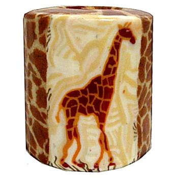Swazi Pillar Candle - Giraffe