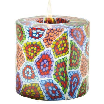 Swazi Pillar Candle - Mozaic