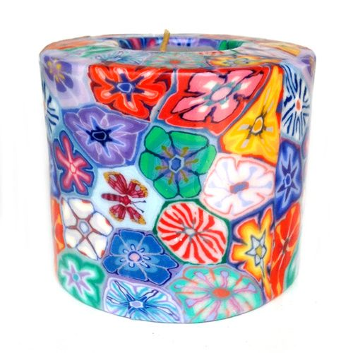 Swazi Pillar Candle - Floral