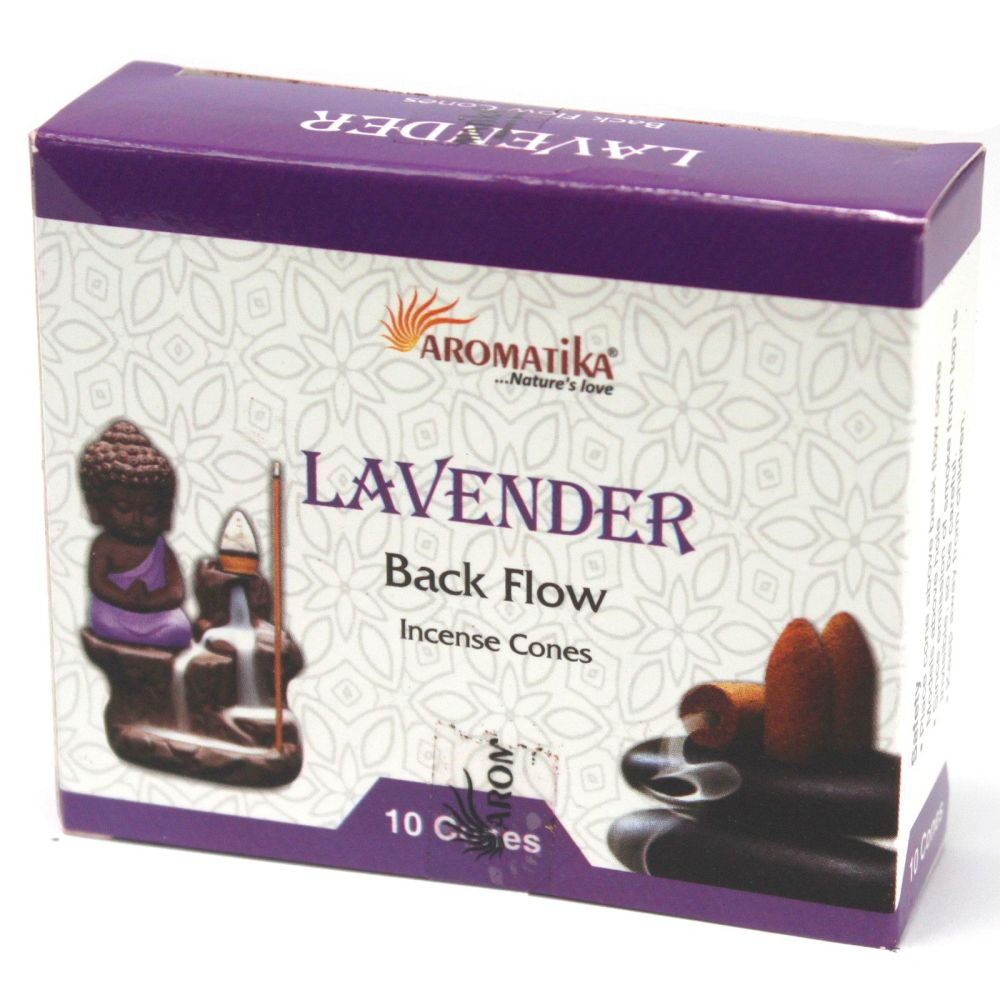 10 x Aromatica Backflow Incense Cones - Lavender