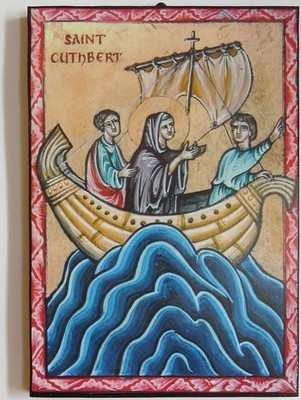 Saint Cuthbert (in boat)