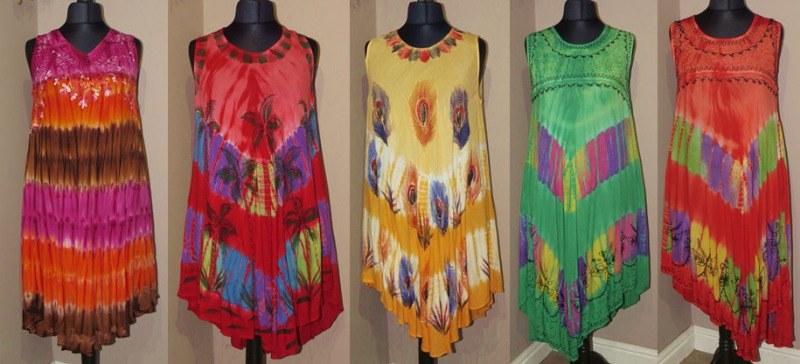 Tie Dye dresses Oswestry
