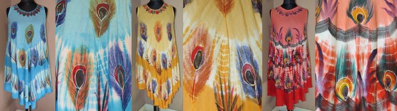 peacock handpainted dresses