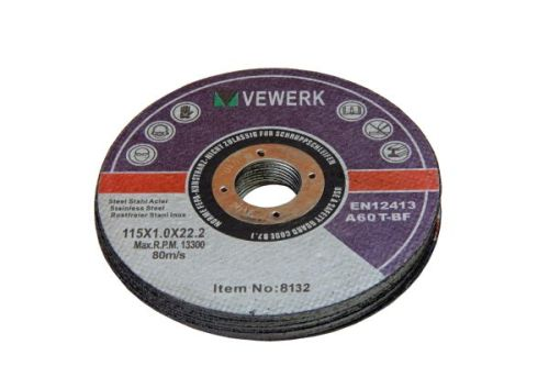 115mm 50 BOX - 115 X 1.0 X 22.2MM CUTTING DISC FOR S/STEEL