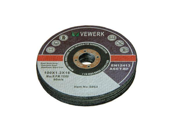 CUTTING DISC 100 X 1.2 X 16MM METAL CUTTING DISCS 50PC BOX