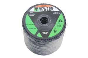 VEWERK ZA36T29 FLAP DISCS 36 GRIT ZIRCONIUM - PACK 10 (115X22.2)