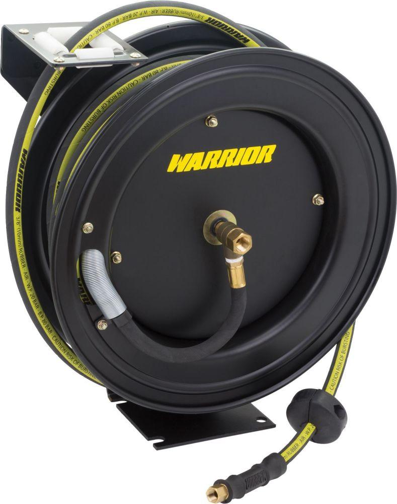 WELZH Warrior™ Premium Retractable Rubber Air Hose Reel; 3/8'' x 15m (High