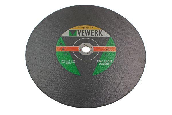 VEWERK 25 PACK - 300 X 3.0 X 20MM METAL CUTTING DISCS