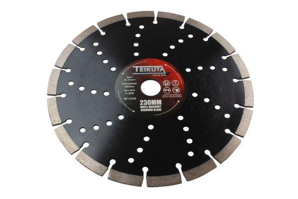 TEIKUTA 230 X 10 X 22.23MM MULTI-MASONRY DIAMOND BLADE
