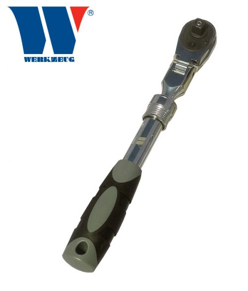 Welzh Werkzeug 3/8dr Telescopic Flexi Lockable Head Ratchet