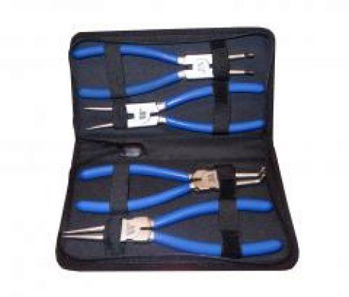 Welzh Werkzeug 4-Piece Circlip Pliers Set, 225 mm