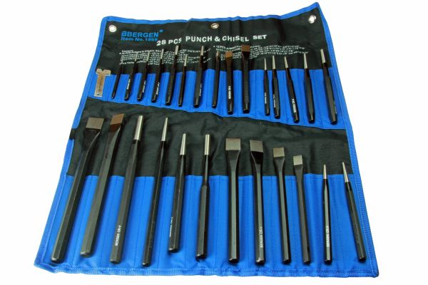 Bergen tools  28 piece punch and chisel set