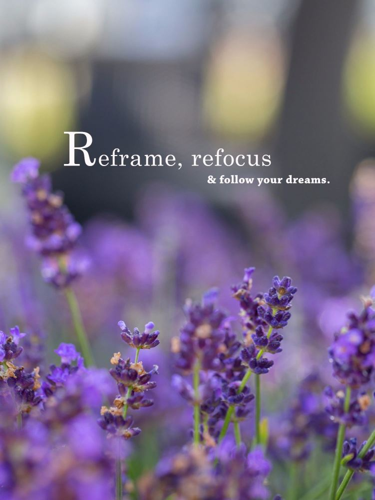 Reframe, refocus & follow your dreams 14x11