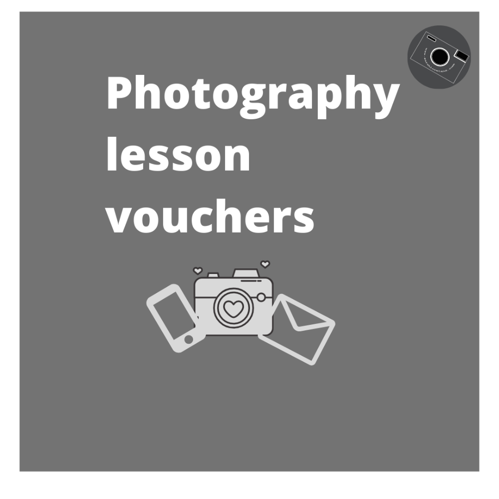 Photography lesson gift vouchers