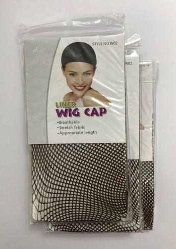 Wig Cap liner mesh pack of 3     Colour DARK BROWN