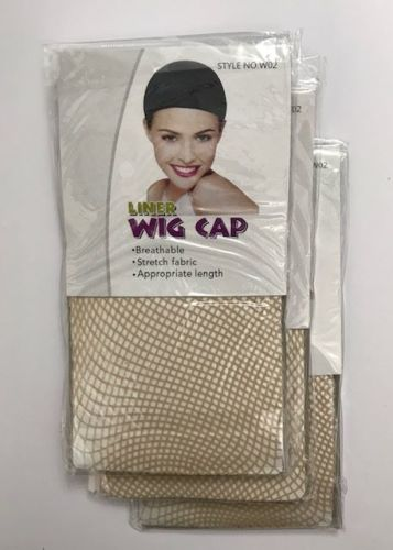 Wig Cap liner mesh  pack of 3    Colour NUDE