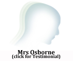 Mrs Osbourne at the Hair Loss and Scalp Clinic for Trichology