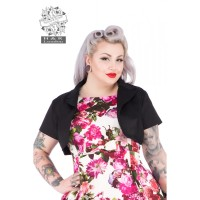 Hearts and Roses (London) Bolero Jacket - Plain Black
