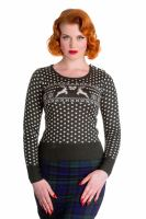 Hell Bunny Belle Jumper - Green
