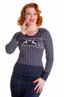 Hell Bunny Belle Jumper - Navy