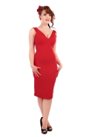 Collectif Mel Pencil Dress in Red