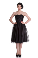 Hell Bunny 1950's style Tamara Party Dress in Black