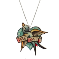 Punky Pins True Love Tattoo Necklace