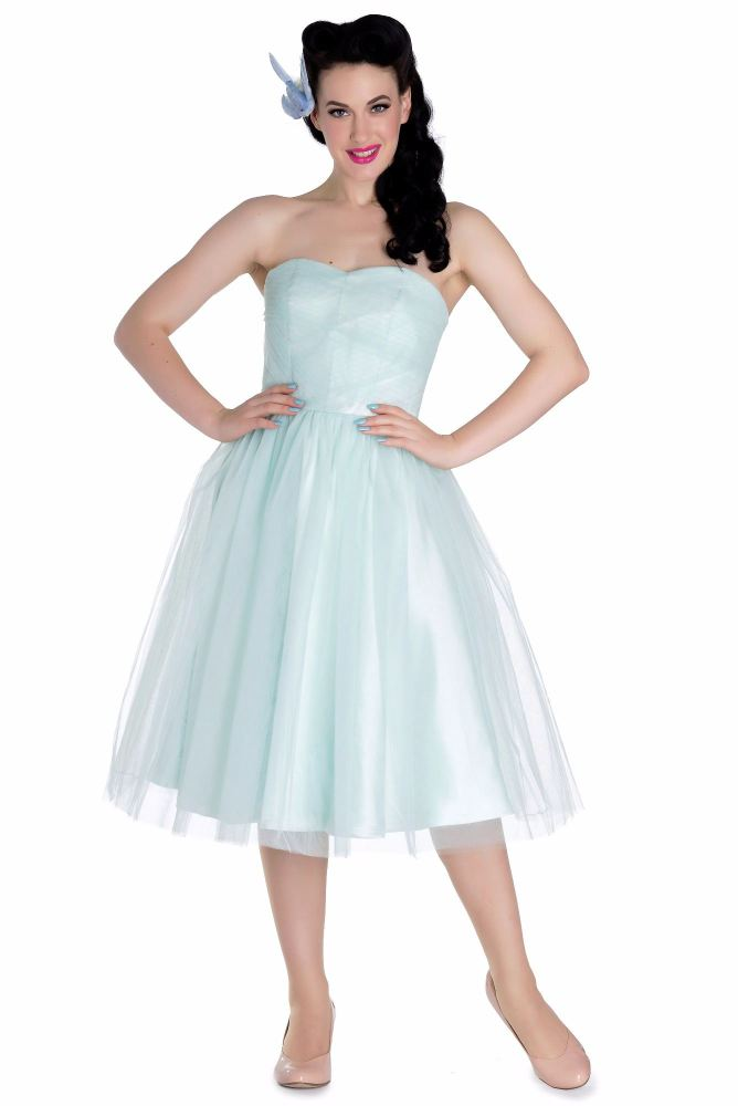 Vintage Style  1950's Retro Tamara Bridesmaid,Party, Prom Dress in Mint Green