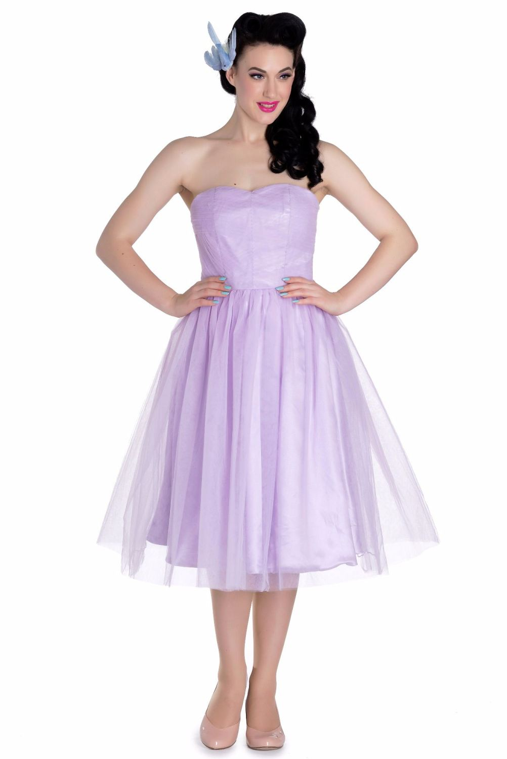 Hell Bunny Tamara 50s Party, Prom, Wedding Dress - Blue