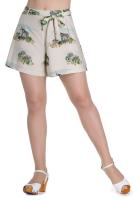 Hell Bunny 1940's 1950's Safari Shorts - Cream