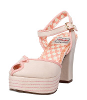 Bettie Page 1940's Donna Shoe - Available in Nude - Size 7 - LAST PAIR