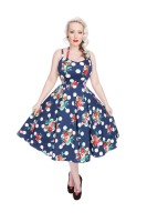Hearts & Roses (London) 1950's Dotty Floral Swing Dress Dress Rockabilly Vintage Style