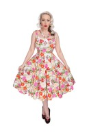 Hearts & Roses (London) 1950's Adelise Roses Swing Dress - Vintage Rockabilly Style
