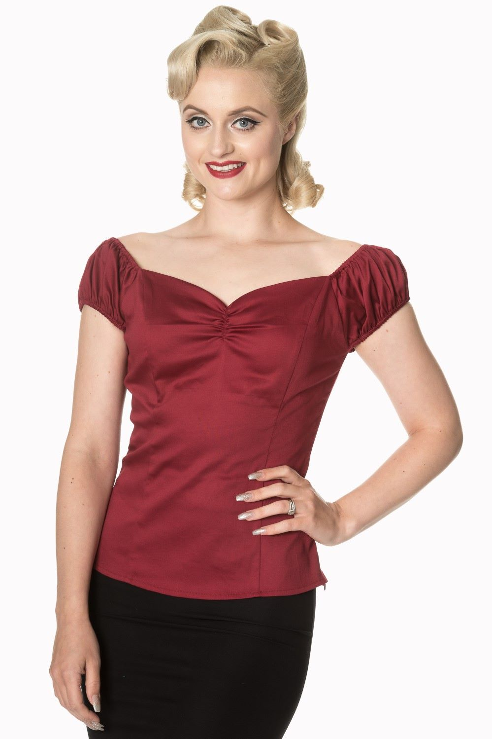 Dancing Days - Winnie Top in Burgundy