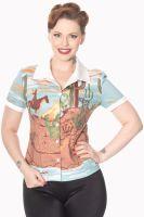 Dancing Days Magical Day Shirt in Cowgirl Prairie Print
