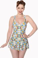 Dancing Days Shoreline Vintage Retro Swimsuit - Sizes XS & S